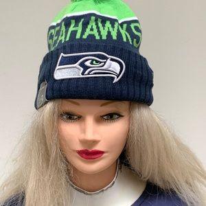 NFL Seattle Seahawks Beanie w/PomPom.